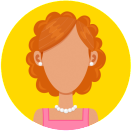 Illustration of female avatar