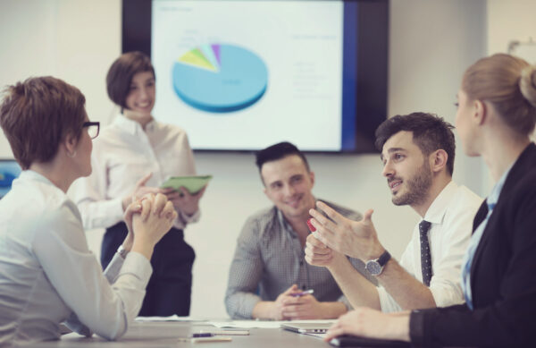 Employee engagement with People in formal meeting