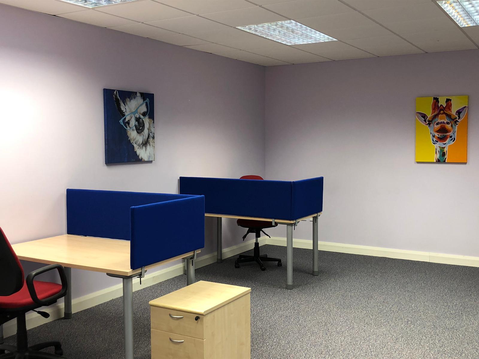 CMD Group Remote Working Hub Desks in a room