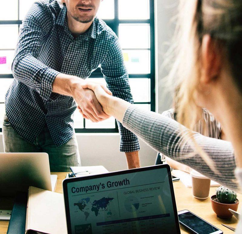 Handshake in work environment
